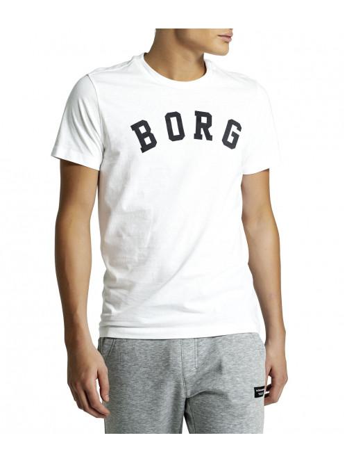 Férfi póló Björn Borg Berny Tee Brilliant White fehér