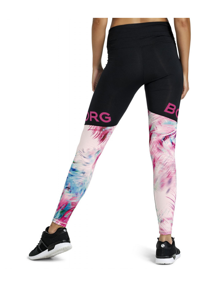 Női leggings Björn Borg Calina Sunset fekete-rózsaszín