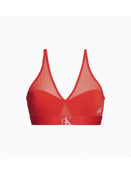 Női melltartó Calvin Klein CK ONE Camo Unlined piros