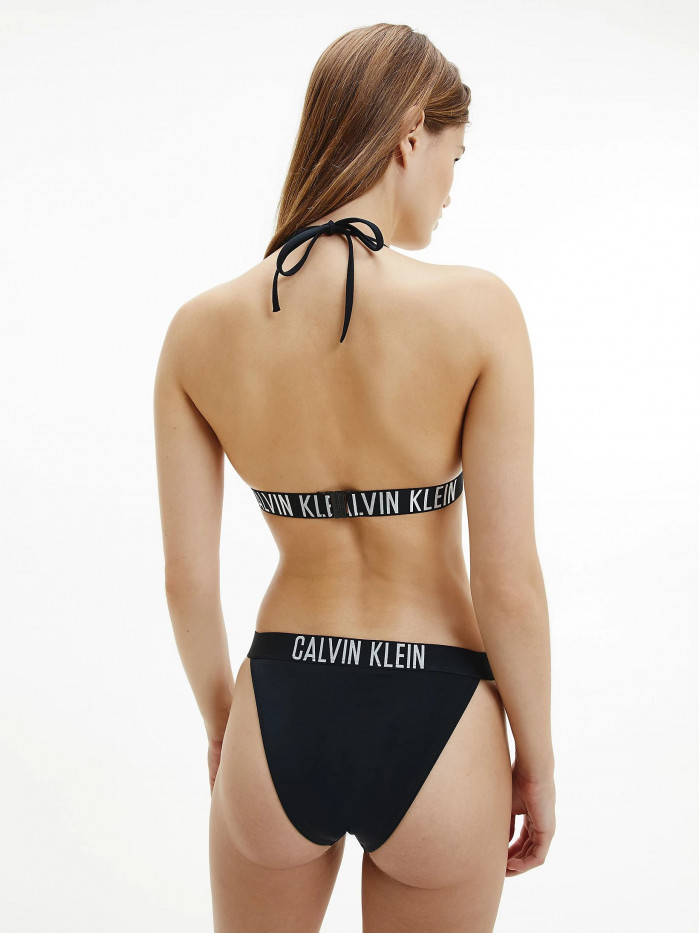 Női fürdőruha Triangle Bikini Top Calvin Klein Intense Power fekete