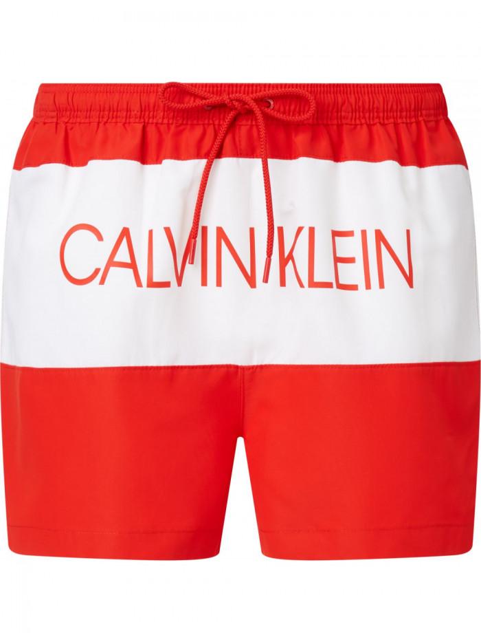 Férfi fürdőnadrág Calvin Klein Drawstring Regular Fit piros
