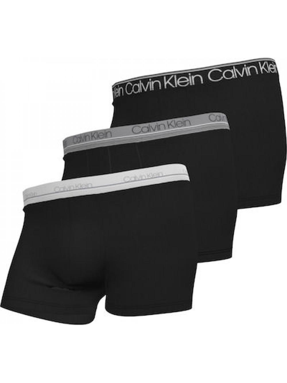 Férfi boxeralsó Calvin Klein Cotton Stretch Trunk 3-pack fekete