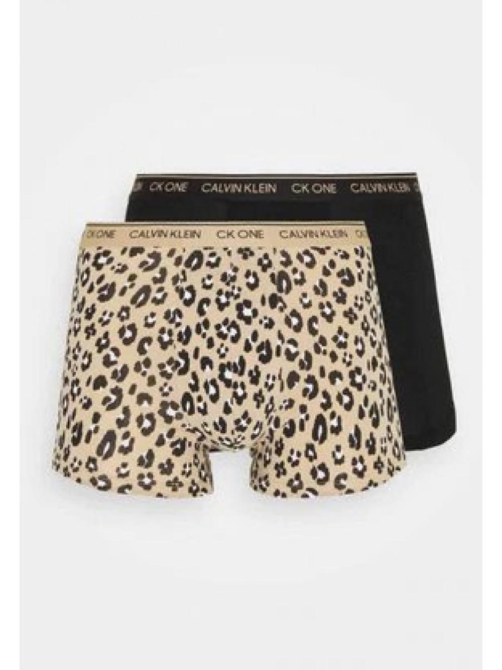 Férfi boxeralsó Calvin Klein CK One Stephen Animal Alpaca fekete, barna 2-pack