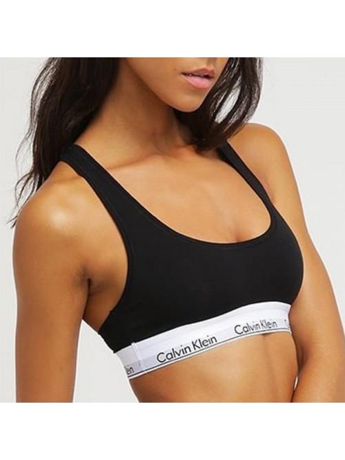 Női sportmelltartó Calvin Klein Cotton Bralette fekete