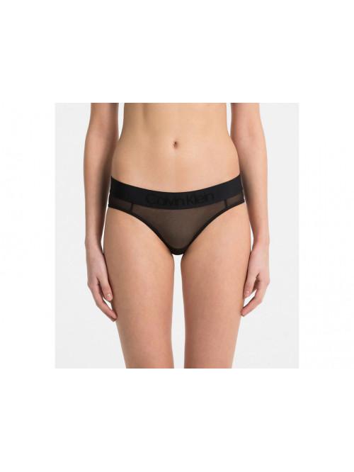 Női alsónemű Calvin Klein Bikini Tonal Logo Mesh fekete