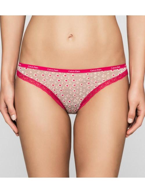 Női alsónemű Calvin Klein  Short Hipster rózsaszín-barna
