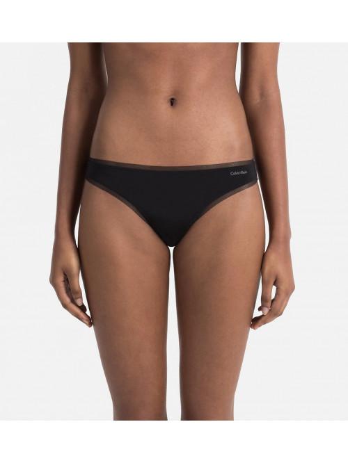 Női tanga alsónemű Calvin Klein Sculpted Mesh fekete