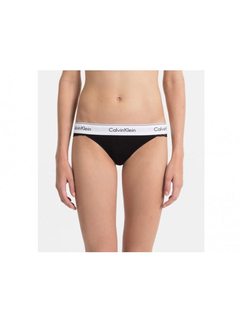 Női tanga alsónemű Calvin Klein Thong fekete csipkés