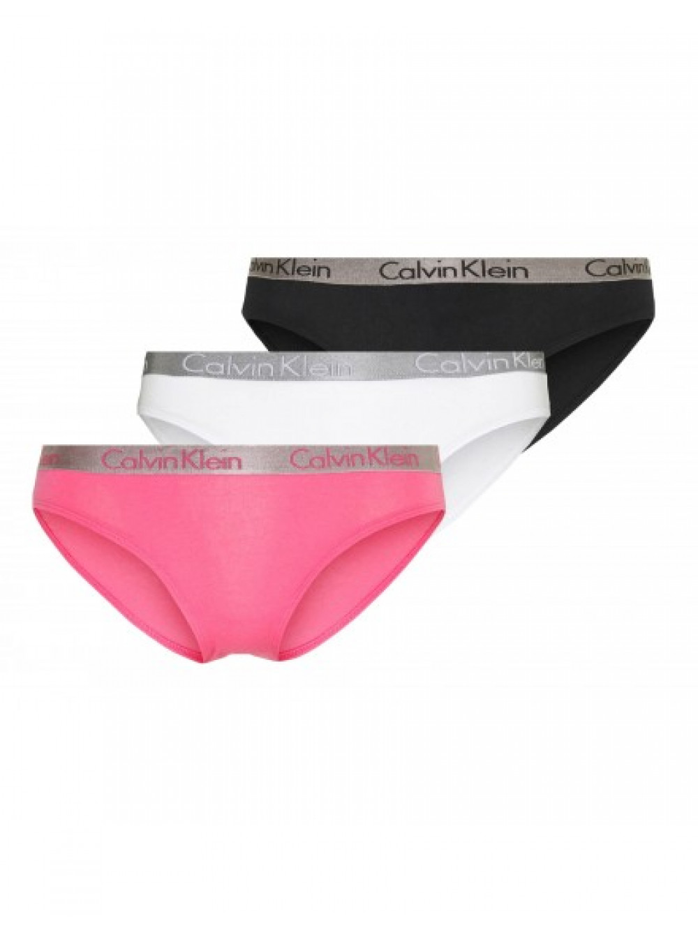 Női alsónemű Calvin Klein Radiant Cotton fekete, fehér, rózsaszín 3-pack
