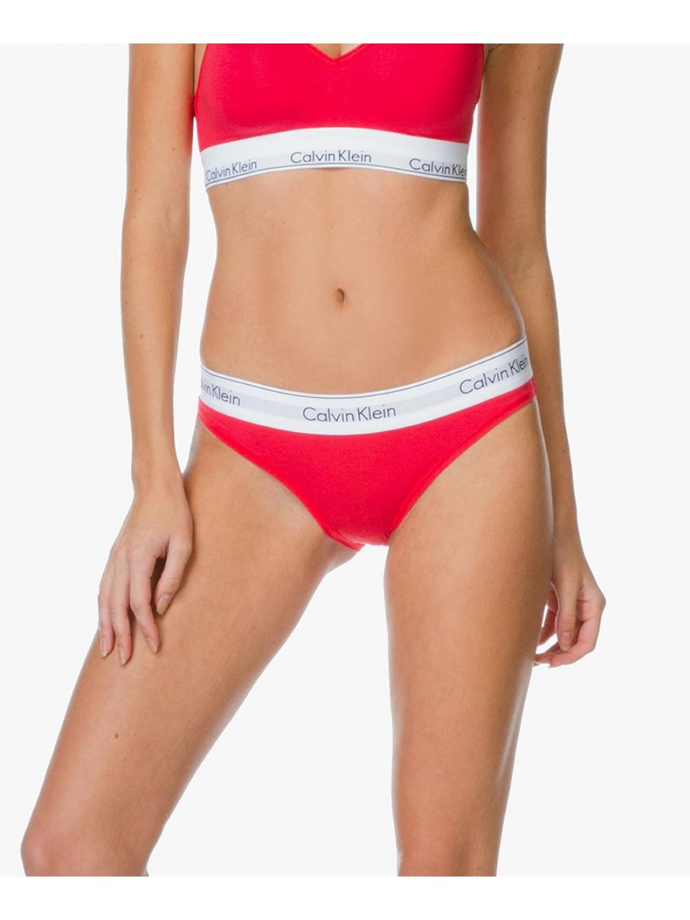 Női alsónemű Calvin Klein Modern Cotton Bikini piros