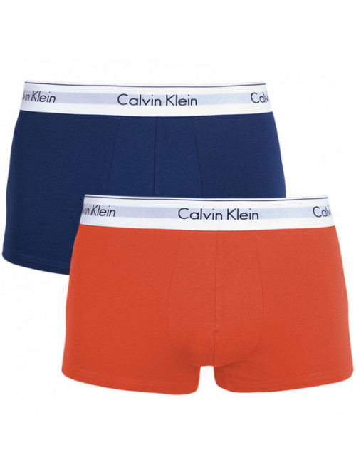 Férfi boxeralsók Calvin Klein Trunk modré, narancssárga 2-pack