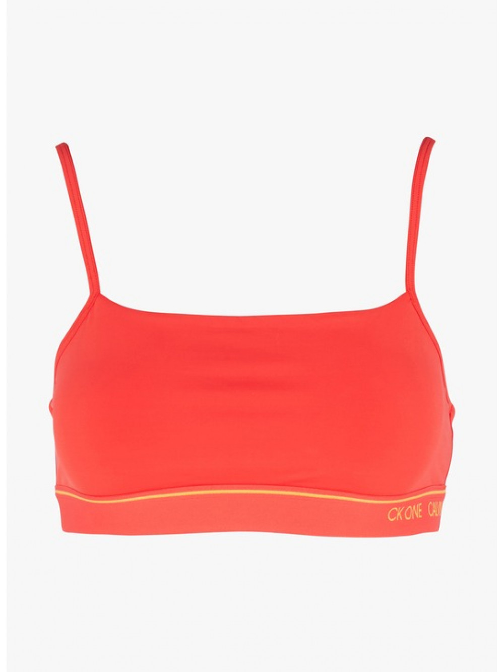 Női sportmelltartó Calvin Klein CK ONE Unlined Bra piros