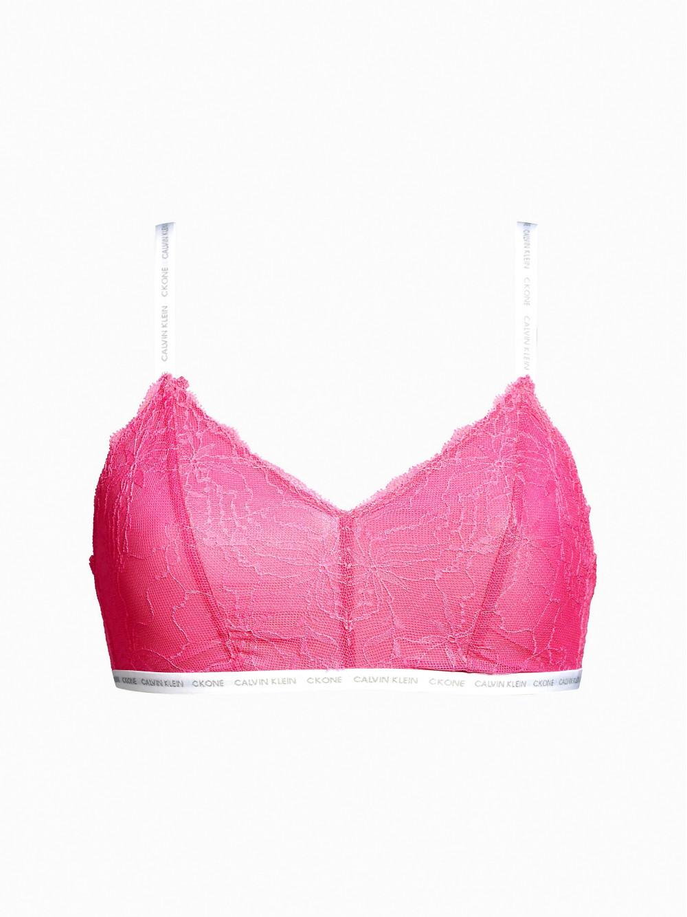 Női melltartó Calvin Klein Triangle Unlined Bralette Satisfy rózsaszín