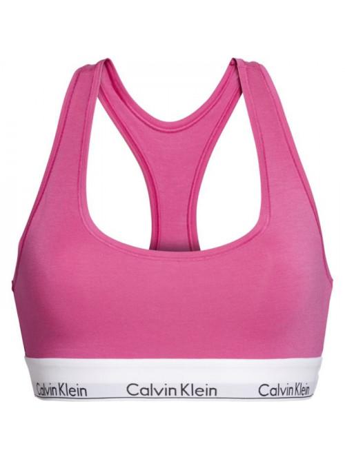 Női sportmelltartó Calvin Klein Unlined Bralette rózsaszín