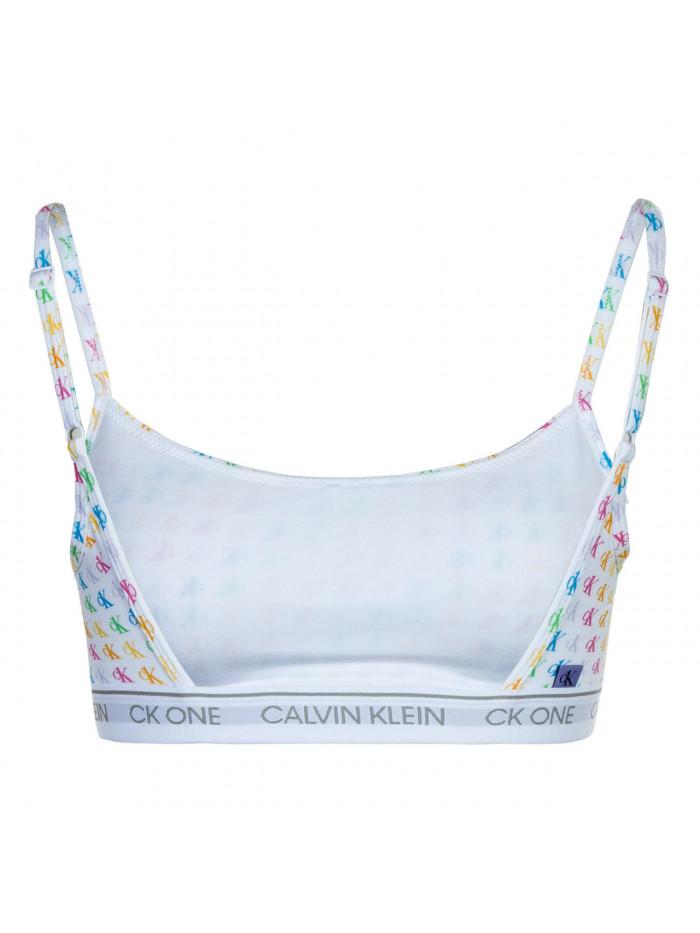 Női sportmelltartó Calvin Klein CK ONE Unlined Bralette Logo Pride