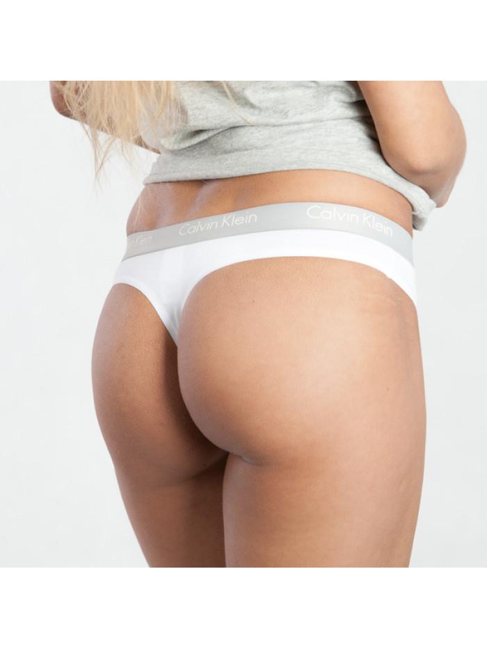 Női tanga alsónemű Calvin Klein Radiant Cotton Thong fehér