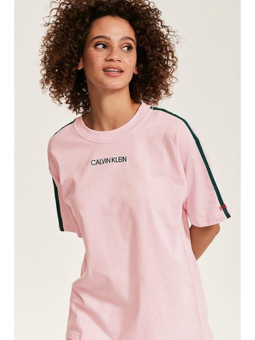 Női póló Calvin Klein SS Crew Neck halvány rózsaszín