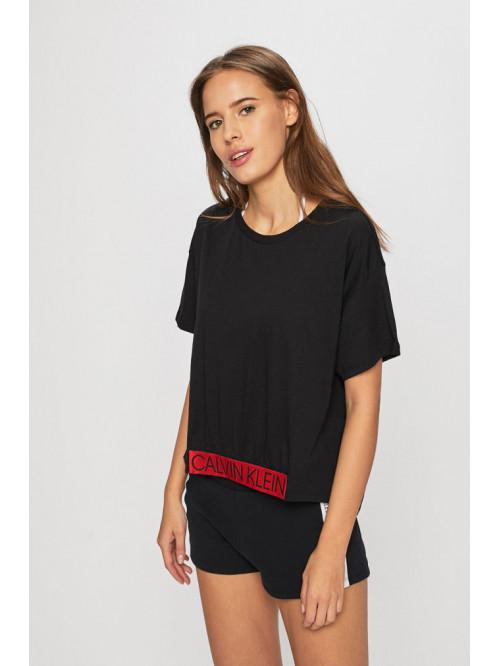 Női póló Calvin Klein Cropped Tee fekete