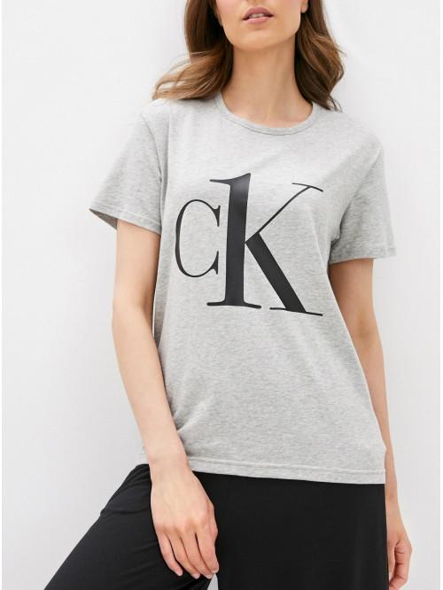 Női póló Calvin Klein CK ONE Logo szürke