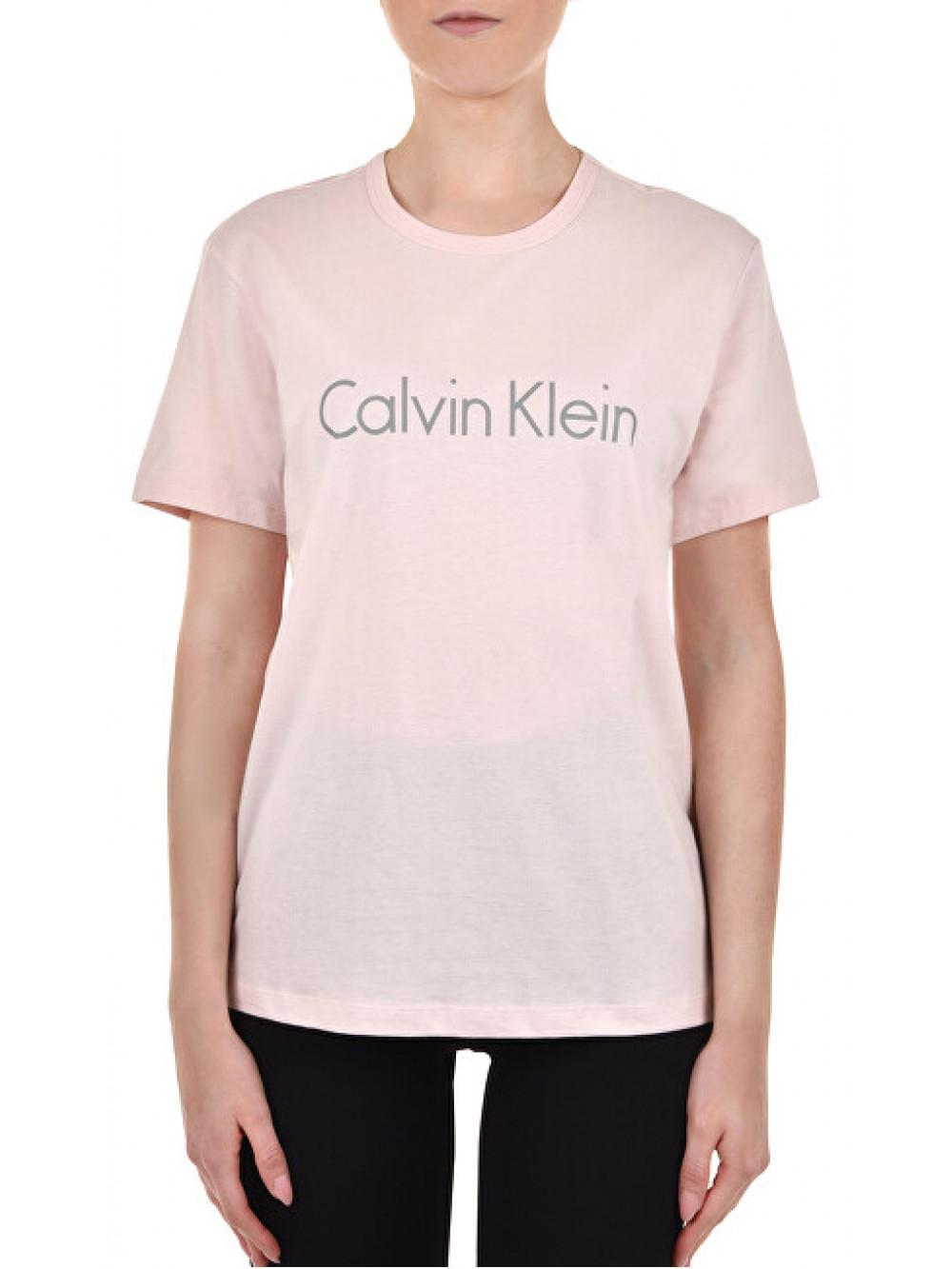 Női póló Calvin Klein S/S Crew Neck halvány rózsaszín