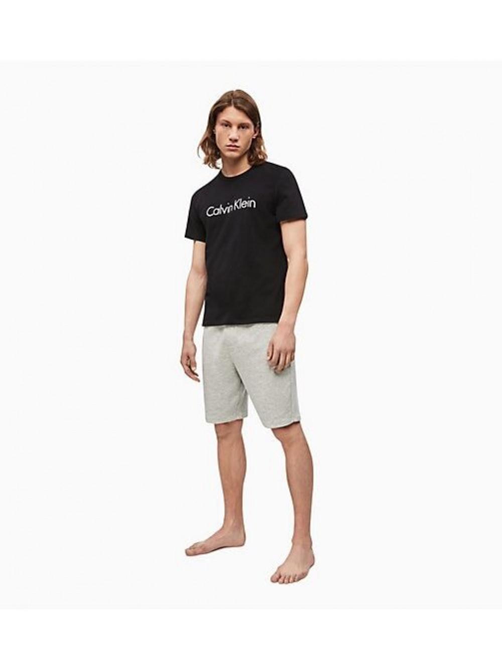 Férfi póló Calvin Klein Comfort Cotton SS Crew Neck fekete