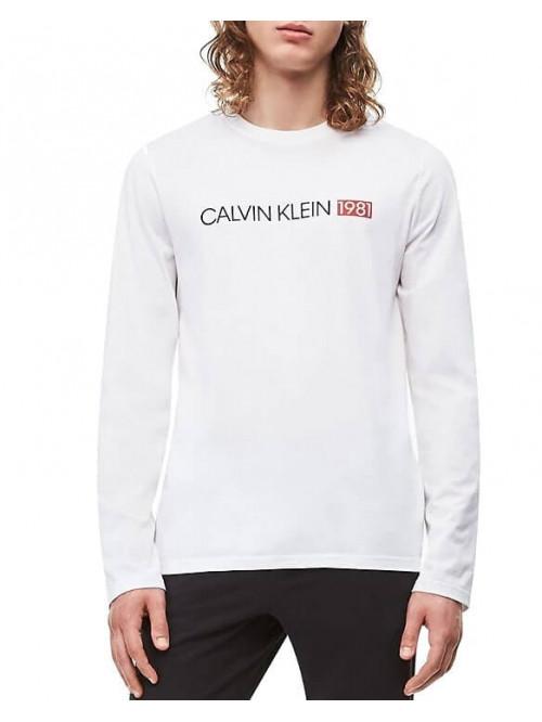 Férfi póló Calvin Klein Crew Neck 1981 fehér