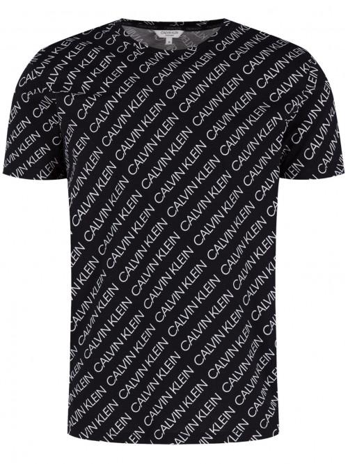 Férfi póló Calvin Klein Logo Print fekete