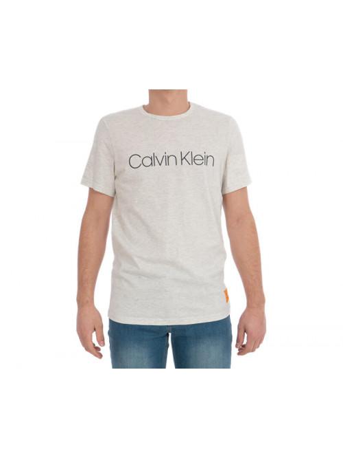 Férfi póló Calvin Klein SS Crew Neck bézs