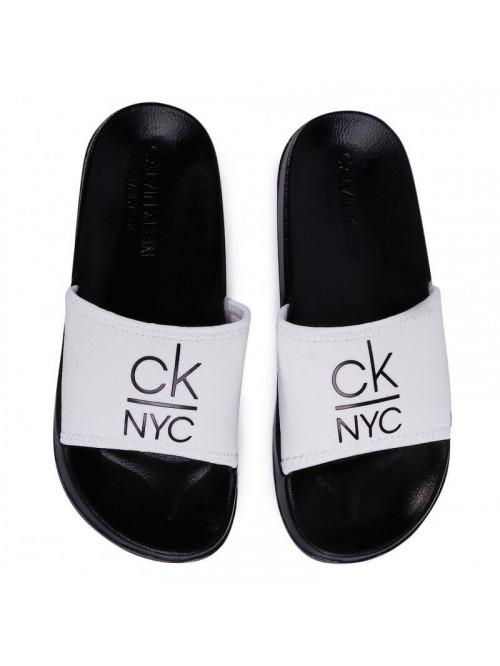 Női papucs Calvin Klein NYC Slide fehér-fekete