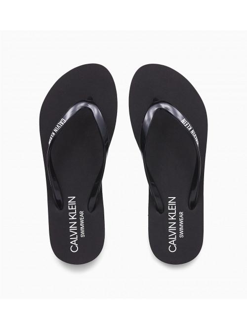 Női strandpapucs Calvin Klein Swimwear fekete