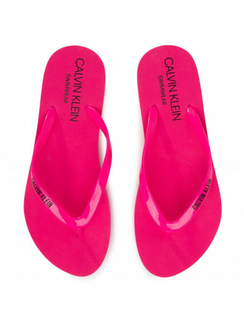 Női strandpapucs Calvin Klein Swimwear rózsaszín