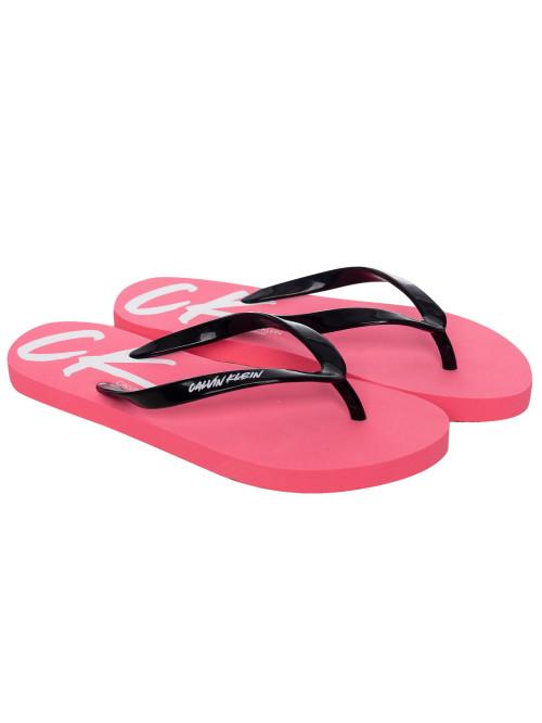 Női strandpapucs Calvin Klein Wave rózsaszín-fekete