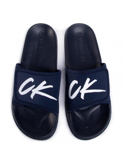 Férfi Papucs Calvin Klein Velcro Side kék