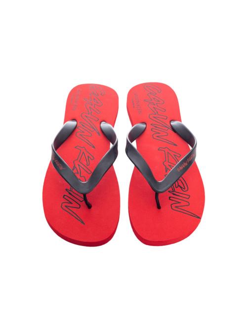 Férfi strandpapucs Calvin Klein Risk Red piros