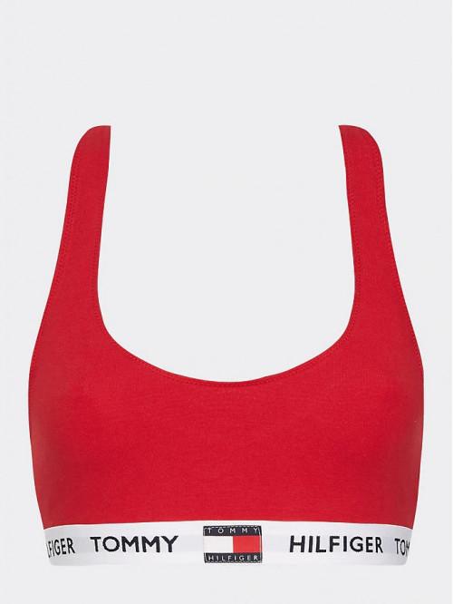 Női melltartó Tommy Hilfiger Logo Underband piros