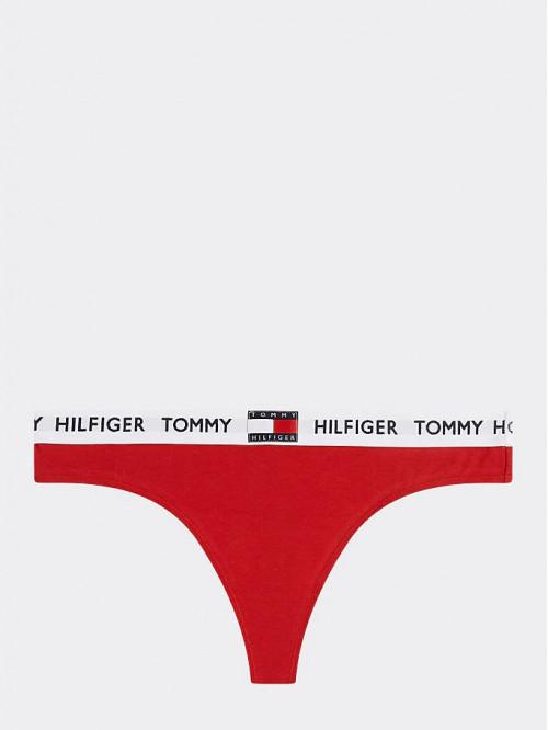 Női tanga alsónemű Tommy Hilfiger Organic Cotton Logo piros