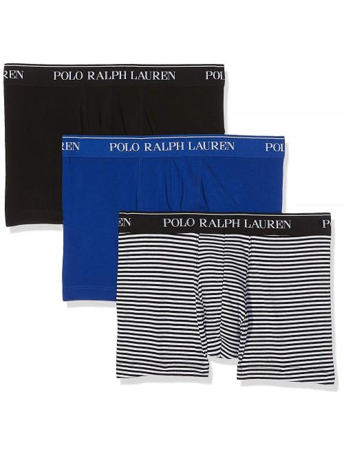 Férfi boxeralsók Polo Ralph Lauren Classic Trunk Stretch Cotton 3-pack fekete, kék, fekete-fehér