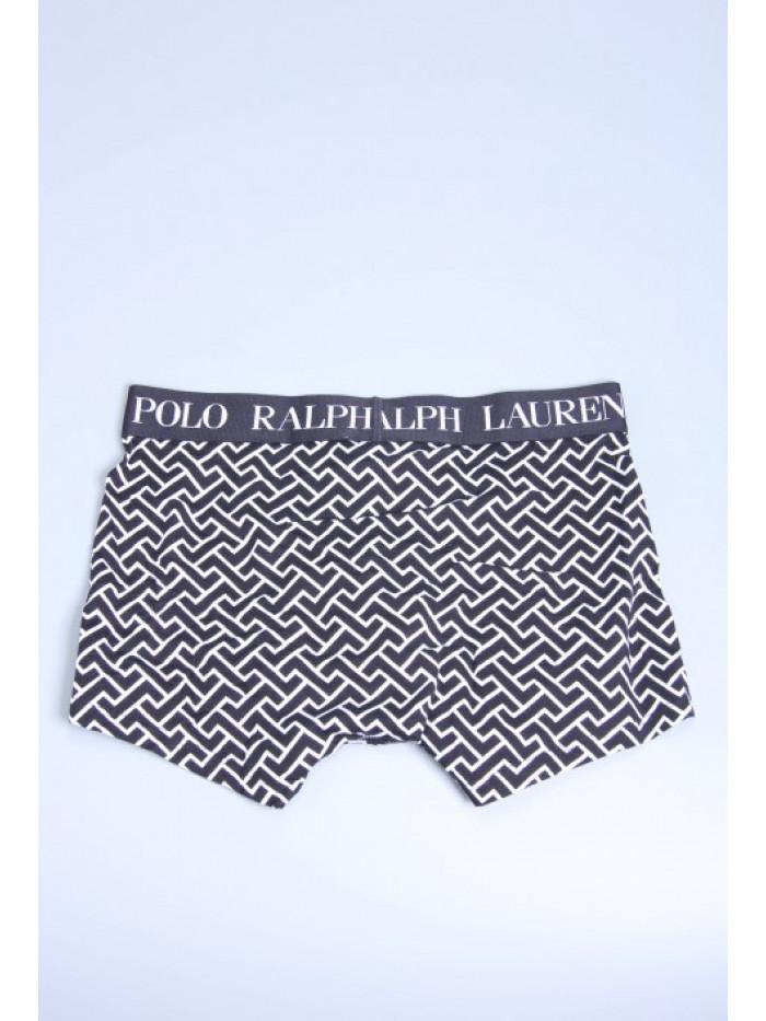 Férfi boxeralsó Polo Ralph Lauren Black Deco Link Geometric Print fekete