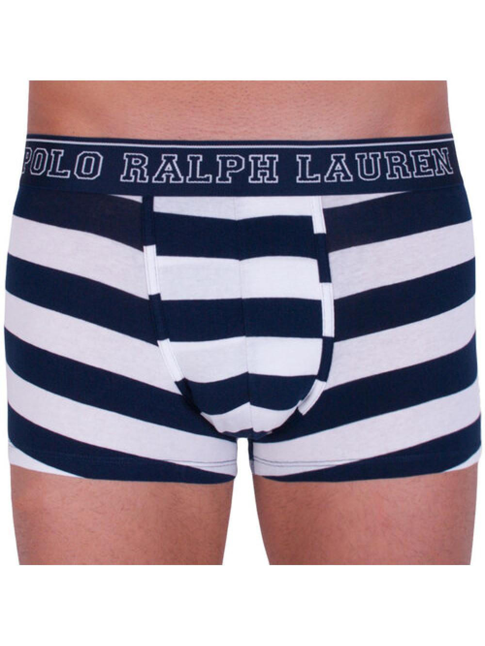 Férfi boxeralsó Polo Ralph Lauren Rugby Stripe fehér-kék