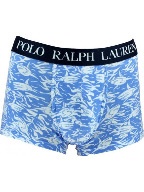 Férfi boxeralsó Polo Ralph Lauren Shark Print Classic Trunk kék