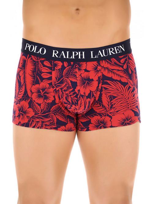 Férfi boxeralsó Polo Ralph Lauren Classic Trunk Tropical Print Sunrise piros