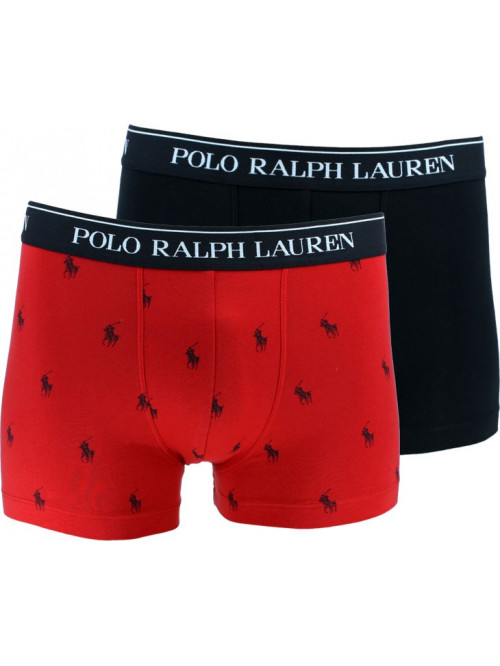 Férfi boxeralsók Polo Ralph Lauren Classic Trunk Stretch Cotton 2-pack fekete, piros