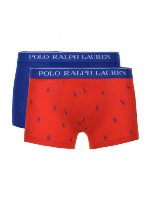 Férfi boxeralsók Polo Ralph Lauren Classic Trunk Stretch Cotton 2-pack kék, piros