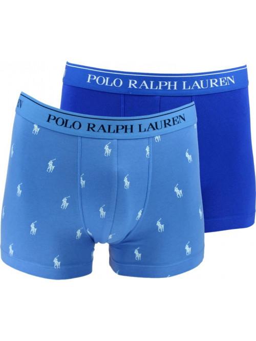 Férfi boxeralsók Polo Ralph Lauren Classic Trunk Stretch Cotton 2-pack sötét- és világoskék