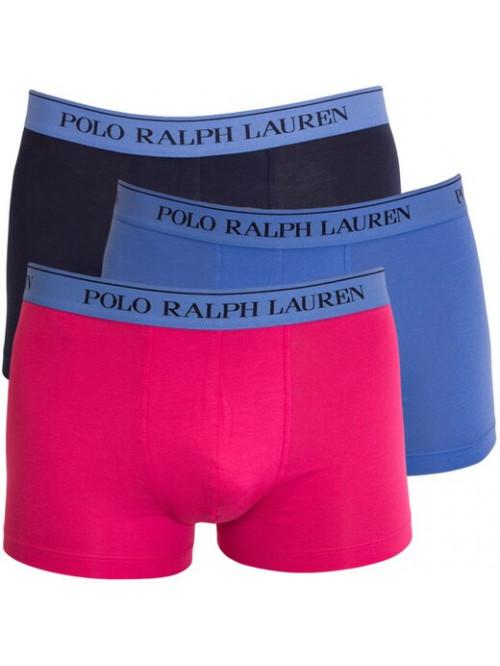 Férfi boxeralsók Polo Ralph Lauren Classic Trunk Stretch Cotton 3-pack fekete, kék, rózsaszín