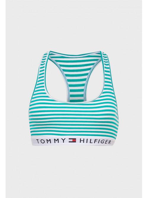Női melltartó Tommy Hilfiger Logo Band Racerback Striped csíkos