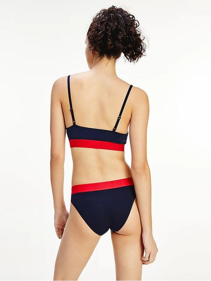 Női alsónemű Tommy Hilfiger Contrast Waistband Bikini kék