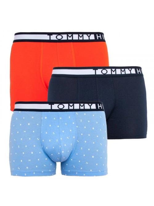 Férfi boxeralsók Tommy Hilfiger Organic Cotton világoskék, kék, narancssárga 3-pack