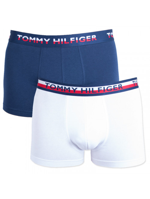 Férfi boxeralsók Tommy Hilfiger Trunk fehér és navy színben 2-pack