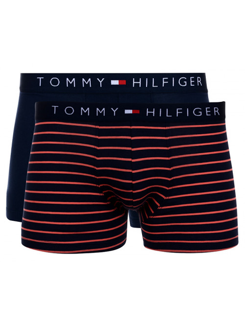 Férfi boxeralsók Tommy Hilfiger Trunk Mini Stripe 2-pack navy, csíkos